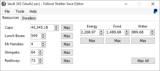edit fallout shelter save file